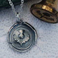 Scottish Thistle pendant in silver