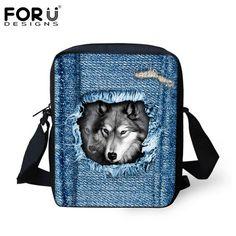 Ladies Bags Shoulder Travel Small Casual Bag Crossbody Dog Cat Pet Denim  Animal Cute Messenger Women 59140c0642d9d