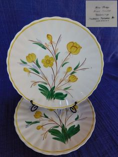 AnnaLee LUNCHEON PLATE Blue Ridge Southern Pottery - have 100's of B Ridge #BlueRidgeSouthernPottery