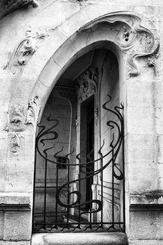 Agen Art Nouveau Gate and Door Art Print by Georgia Fowler