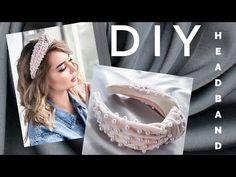 #МК - Ободок с узлом с жемчугом| #Tutorial - knot headband with beads - YouTube Turban Headband Tutorial, Knot Headband, Vintage Headbands, Floral Headbands, Handmade Hair Bows, Handmade Crafts, Hair Beads, Craft Stick Crafts, How To Make Beads