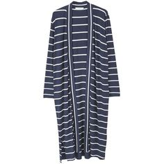 Striped Long Cardigan (2.605 RUB) found on Polyvore featuring women's fashion, tops, cardigans, long sleeve cardigan, long tops, long striped cardigan, stripe cardigan and mango cardigan