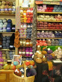 2 Favorite summer yarn - any and all of them! Wool Shop, Yarn Shop, Yarn Thread, Yarn Stash, Crochet Yarn, Knitting Yarn, Yarn Storage, Patchwork Fabric, Creative Outlet