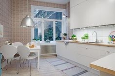 anja on interiors Feminine Apartment, Scandinavian Kitchen, Space Saving Furniture, Interior Design Inspiration, Kitchen Interior, Decoration, Home Kitchens, Ideal Home, Kitchen Dining