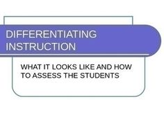 This Wiki focuses on current trends in differentiating instruction in math and science classrooms.