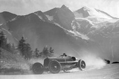 Carlo Pintacuda driving for Alfa Romeo, 1935 Grossglockner Rennen