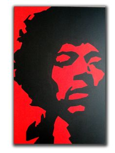 Jimi Hendrix Original Pop Art Portrait Canvas Painting by edgeware, £99.00