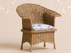 WC/919, wicker chair, scale 1 : 12, made by Will Werson.