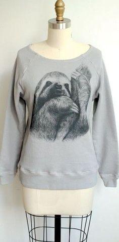 Sloth sweater! Want... Thanks Mel!