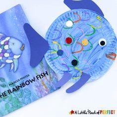 Fun Ocean Kid Crafts for Ocean Theme Week - A Crafty Life Ocean Kids Crafts, Sea Crafts, Summer Crafts For Kids, Crafts For Kids To Make, Preschool Crafts, Preschool Kindergarten, Paper Plate Fish, Paper Plate Crafts, Book Crafts