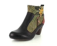 $150 L'artiste By Spring Step Women's Dramatic Boot, black/Mul...