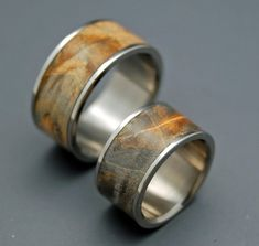 Across the Universe - Wooden Wedding Rings on Etsy, £302.57