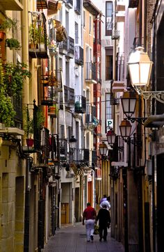 "Logroño is the capital of La Rioja, Spanish wine region par excellence. It is also a stop in the Camino de Santiago and a historic commercial centre. A must here: A glass of wine + a tapa of ""patatas. Aragon, Santa Cruz Bolivia, Oh The Places You'll Go, Places To Visit, Rioja Spain, Douro Portugal, Saint Jacques, Basque Country, Spain And Portugal"