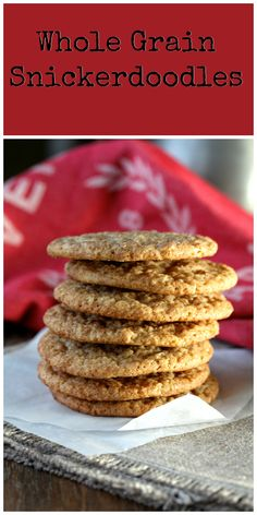 These Multigrain Snickerdoodles, made with 100% whole grains, are so tasty. All of the whole grains add lots of dietary fiber to the cookies. The barley flour adds a lovely sweet, nut-like flavor, the oats add texture, and the whole wheat adds more depth of flavor.
