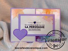 Carte 3D artisanale Félicitations et Amour dépliable 3 volets /Handmade Congratulations and Love unfoldable 3 parts 3D card