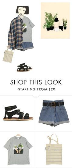 """""""plant"""" by rg-amini ❤ liked on Polyvore featuring H by Hudson, Out of Print, UNIF and Kara"""