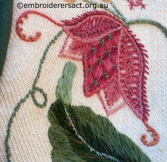 Detail 6 of Crewelwork Stable Bag stitched by Jillian Bath