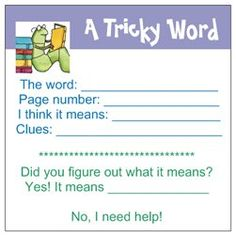 sticky notes, give out when students are reading