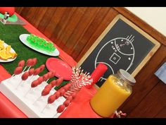 """""""Round 5"""" Amelia's Footy Party. Cool birthday food ideas for an AFL footy party."""