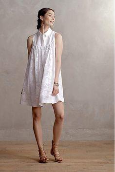 Laced Poplin Swing Dress - anthropologie.com