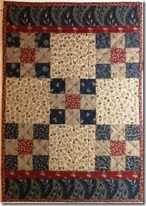 9-patch doll quilt