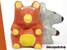 Totem Décopatch #Ecureuil #Loup #Wolf #Squirrel #Bunny #Decoration #HomeDeco #DIY