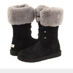 Black ugg boots size 8 Worn once like new :) size 8 UGG Shoes Winter & Rain Boots
