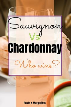Sauvignon blanc and Chardonnay are two of the big hitters in the white wine world. But how do they measure against each other? What flavours are in the wine and what you can pair them with? Learn about two of the most popular white wine varieties to ma Fruity Cocktails, Wine Cocktails, Alcoholic Drinks, Beverages, Sangria, Growing Grapes, Cheap Wine, Wine List, Sauvignon Blanc