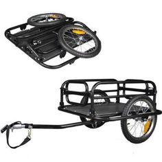 Amazon.com: Veelar Foldable Bicycle Cargo Trailer Shopping/Utility Trailer-20300: Sports & Outdoors