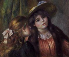 """Pierre Auguste Renoir's """"Portrait of Two Girls"""",Musee de l'Orangerie, Paris"""