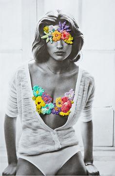 Fotografias vintage ganham bordados contemporâneos nas mãos do artista Jose Romussi