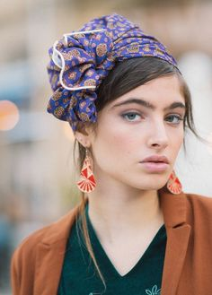 """Nina"" Vintage Style Head Covering- Available in 5 Amazing Prints! 