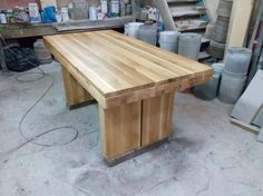 Rustic dining table by Beaver Home furniture.