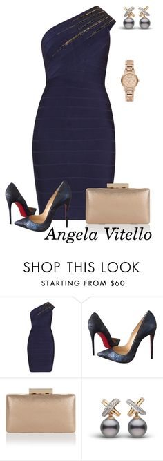 """""""Untitled #824"""" by angela-vitello on Polyvore featuring Hervé Léger, Christian Louboutin, Monsoon and Burberry"""