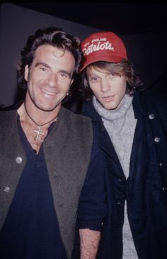 Jon Bon Jovi and Tico 'The Hit Man' Torres. Love this