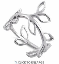 Sterling Silver Leaves Shape Ring
