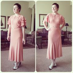 American Duchess: 1930s Pink Easter Dress and Vintage Underpinnings