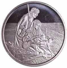 2002 Mary Joseph and Jesus - Limited Edition SILVER .999 Fine 1 Oz Silver Oz