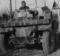 Bologna (Italy) december 1944 - «Lince» armored car italian built, german insignia - pin by Paolo Marzioli