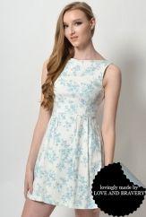 LAB HENRIETTE FLORAL DRESS TEAL
