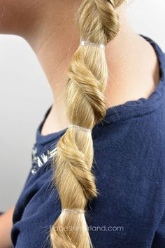 Spiral Staircase Ponytail from BabesInHairland.com #ponytail #hair #hairstyle