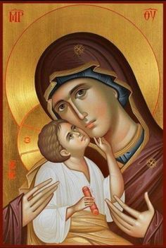 Icons:holy image of Christ, the Virgin Mary, or a saint venerated in the Eastern Orthodox Church Byzantine Art, Byzantine Icons, Blessed Mother Mary, Blessed Virgin Mary, Religious Icons, Religious Art, Image Jesus, Church Icon, Russian Icons