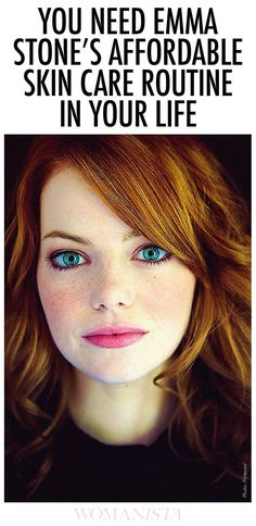 You won't believe Emma Stone's affordable skin care routine. Check it out at http://Womanista.com