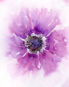 Aquarell Blumen print pink Geschenk für ihr Aquarell von SRorickArt