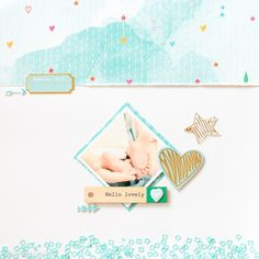 Hello Lovely + video by veera at studio_calico Diy Scrapbook, Scrapbooking Layouts, Scrapbook Pages, Studio Calico, Layout Inspiration, Art Journal Inspiration, Scrapbooks, Crafty, Gallery