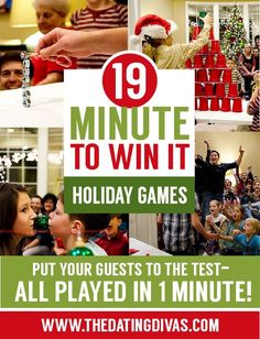 FUN Minute to Win It Style Games- for Christmas!