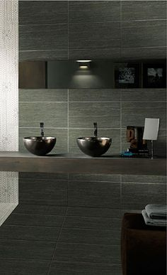 A Stone Series   Eurotile.ca A Stone is a contemporary glazed & rectified porcelain tile with a linear pattern, available in 4 contemporary colours. Its matching porcelain mosaics can be used for a shower base, backsplash, accent border, or on a feature wall.