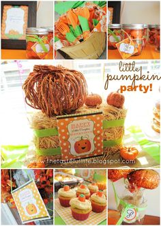 Taste{Full}: My Little Pumpkin Party Inspiration: Real Party, Supplies, & an Outfit.