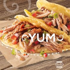 YUM! The new ready-to-go HORMEL taco meats make adventures in tacos so fun and so easy. Just add some peppers, onions… any toppings will do. #TacoLove