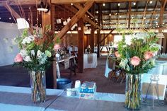 Barn wedding Florals, Wedding Flowers, Barn, Table Decorations, Furniture, Home Decor, Floral, Converted Barn, Decoration Home
